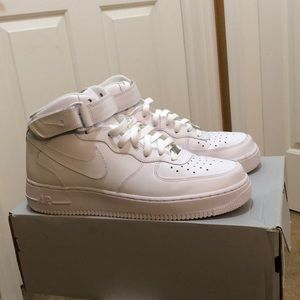 Air Force 1 Mid all white. Slightly used